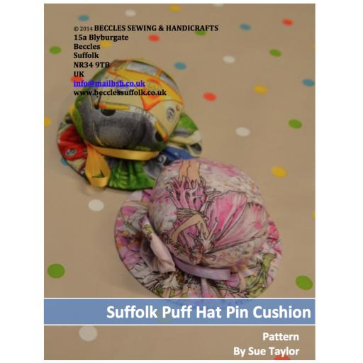 PERFECT PIN CUSHION - Suffolk Puff Hat Pin Cushion (Download)