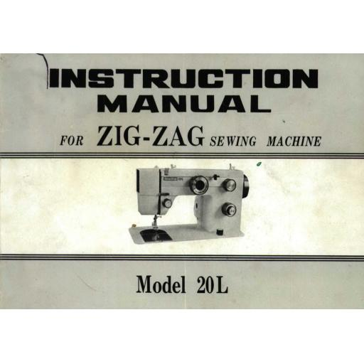 Necchi Sewline 20L Instruction Manual (Printed)