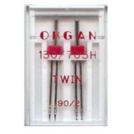 ORGAN Sewing Machine Needles Twin 90/2