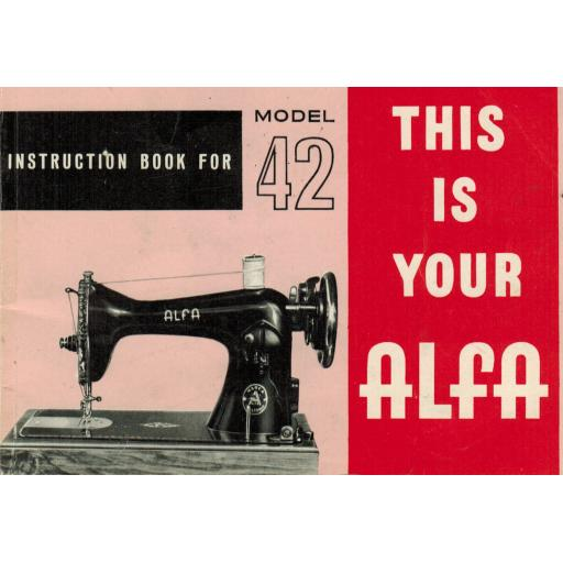 ALFA Model 42 Instruction Manual (Printed)
