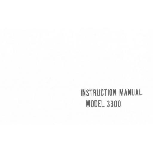 Riccar Model 3300 Instruction Manual (Download)