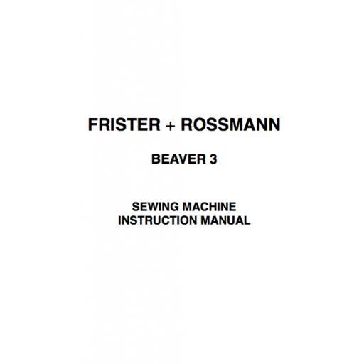 Frister + Rossmann Beaver 3 Instruction Manual (Printed)