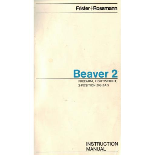Frister + Rossmann Beaver 2 Instruction Manual (Printed)