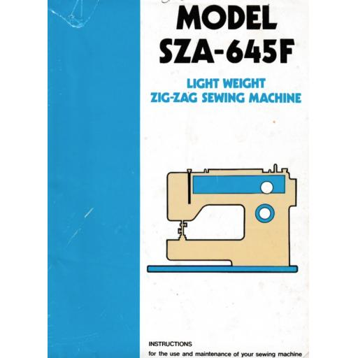 CROWN POINT Models SZA-645F Instructions (Printed)