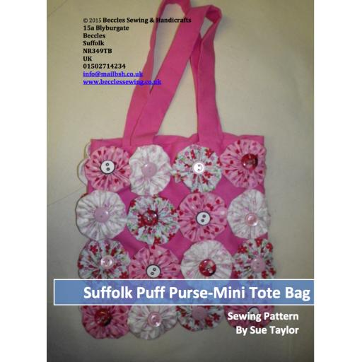 SUFFOLK PUFF BAG PURSE Mini Tote Bag Pattern (Download)