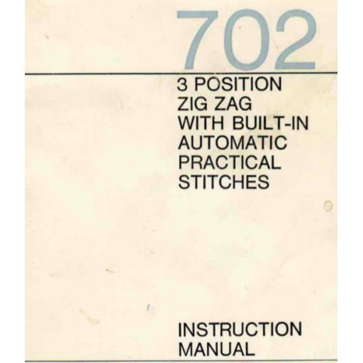 Frister + Rossmann Model 702 Instruction Manual (Printed)