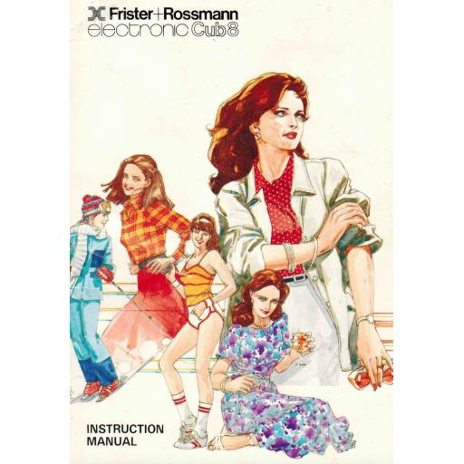 FRISTER + ROSSMANN Cub 8 Instruction Manual (Printed)