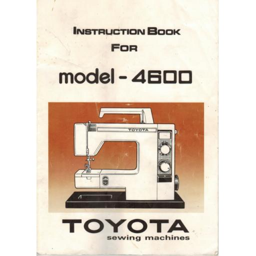 TOYOTA Model 4600 Instruction Manual (Download)