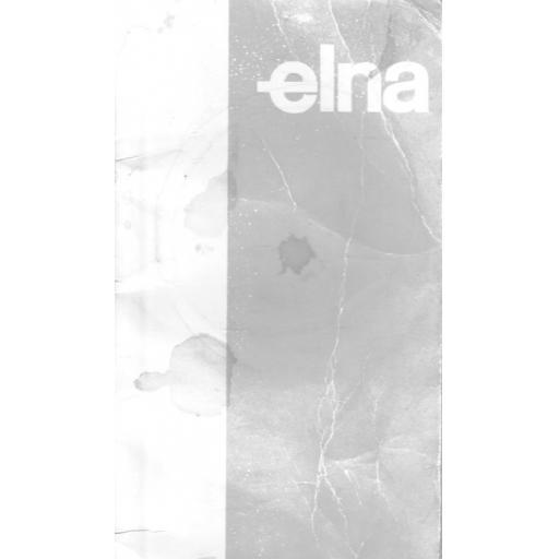 ELNA Models - CI 41, CI 43, CI 62 & CI 64 Sewing Machine Instruction Manual (Printed)