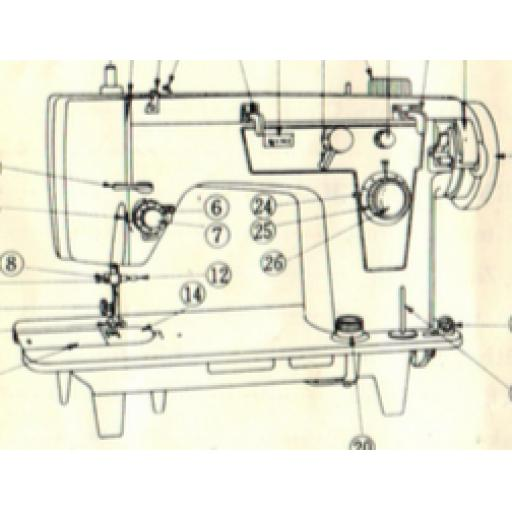 JONES BROTHER Machine (with Auto Buttonhole and Blind Hem ) Instructions (Printed)