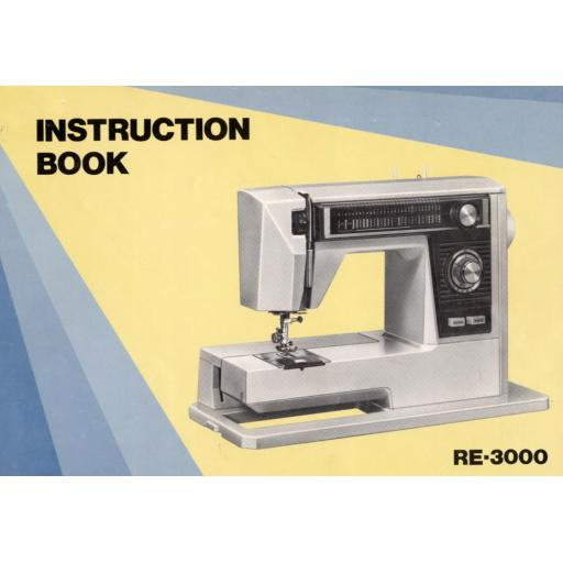 NEW HOME RE 3000 Instruction Manual (Printed)