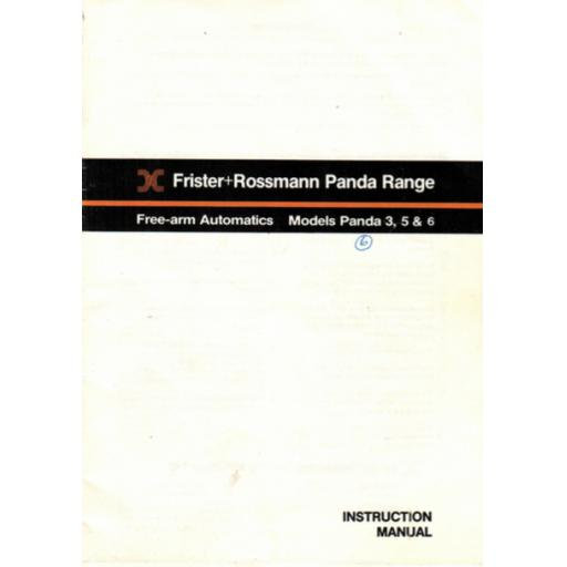 FRISTER + ROSSMANN PANDA MODELS 3, 5 & 6 INSTRUCTION MANUAL (Download))