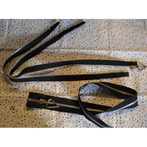 Open End Metal Tooth Zips 22 Inch