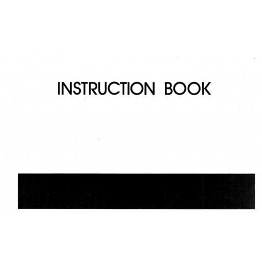 MY LOCK 103 Overlocker Instruction Manual (Printed)