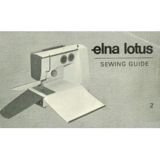 ELNA Lotus ZZ Sewing Guide (Printed)