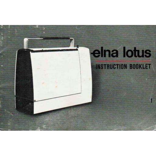 ELNA Lotus SP Instruction Booklet & Sewing Guide (Printed)