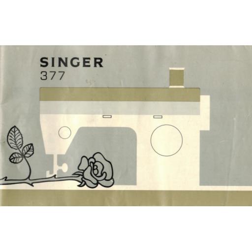 SINGER 377(M) Instruction Manual (Download)
