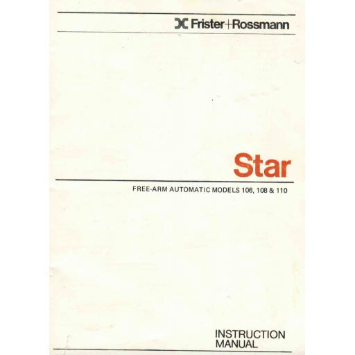 FRISTER + ROSSMANN Star 106, 108 & 110 Instruction Manual (Download)