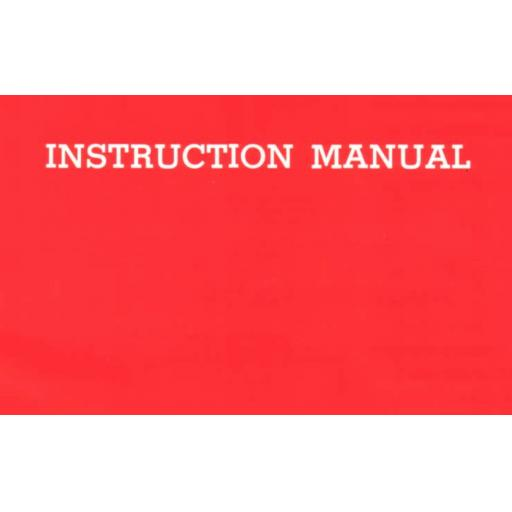 Unknown Brand (Model 200) Instruction Manual (Download)