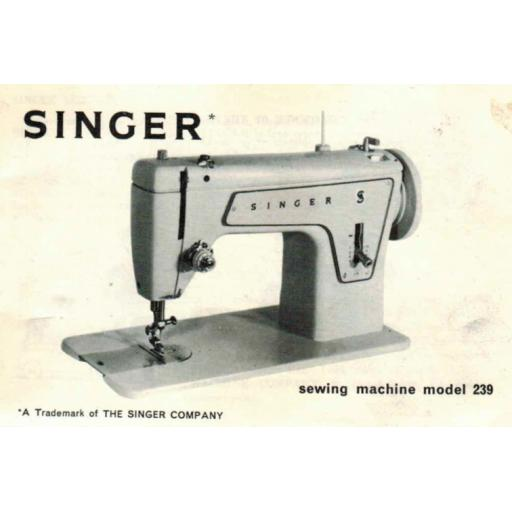SINGER 239(M) Instruction Manual (printed copy)