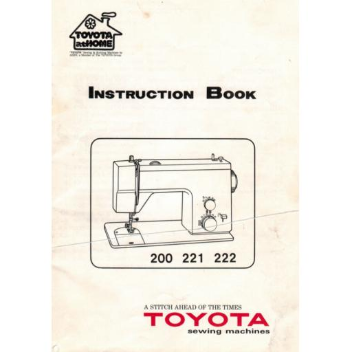 TOYOTA Models 200, 221 & 222 Instruction Manual (Download)
