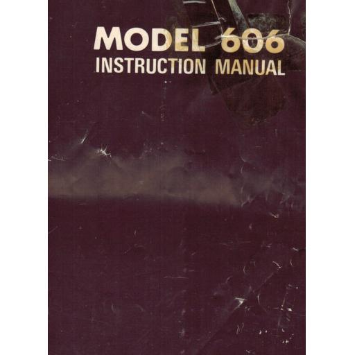 Riccar Model 606 Instruction Manual (Download)