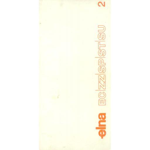 ELNA Models-EC, ZZ, SP, ST & SU Sewing Guide (Printed)