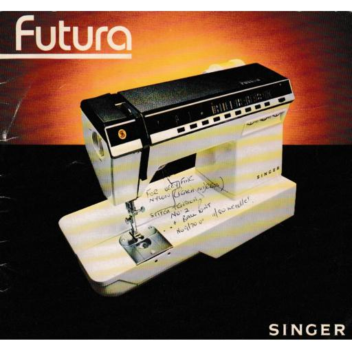 SINGER Futura 1000 1100 Instruction Manual (Download)