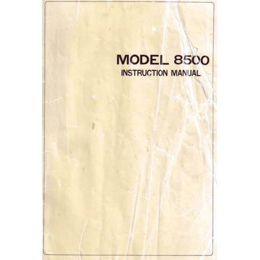 RICCAR Model 8500 (Reliant) Instruction Manual (Printed)