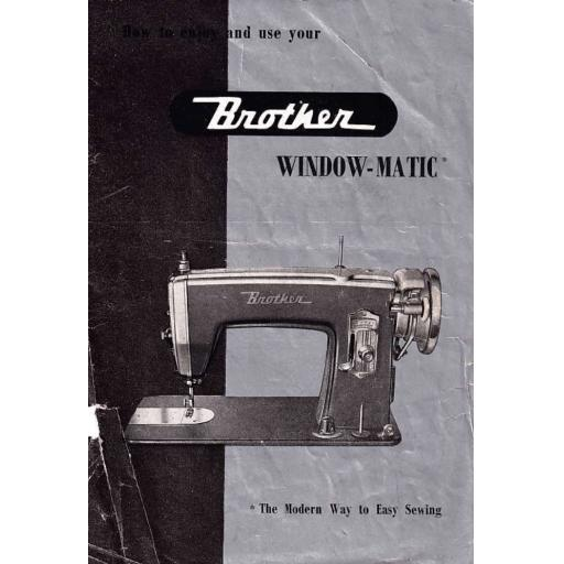BROTHER Window-Matic Sewing Machine  Instruction Manual (Printed)