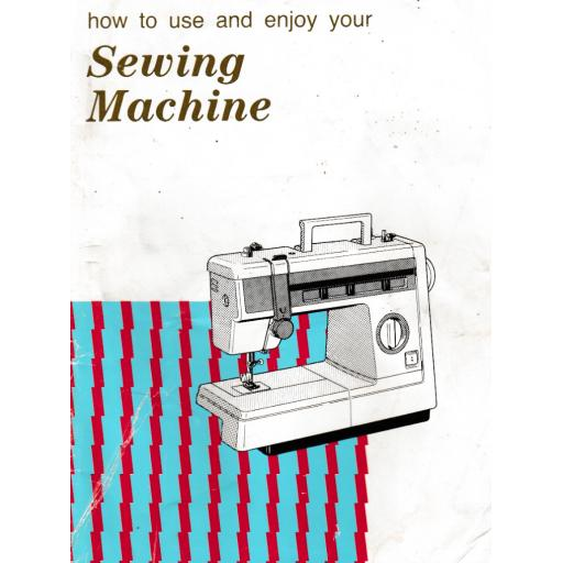 JONES or BROTHER Model VX 857, VX880 & VX883 Sewing Machine  Instruction Manual (Printed)