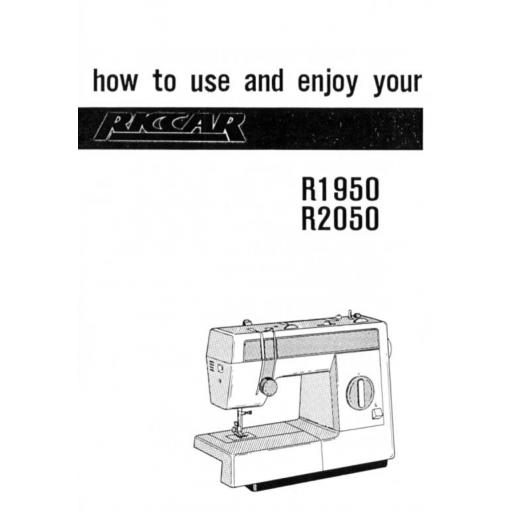 Riccar Model 1950 & 2050 Instruction Manual (Printed)