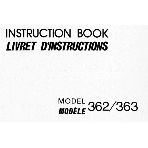NEW HOME 362 & 363 Instruction Manual (Download)