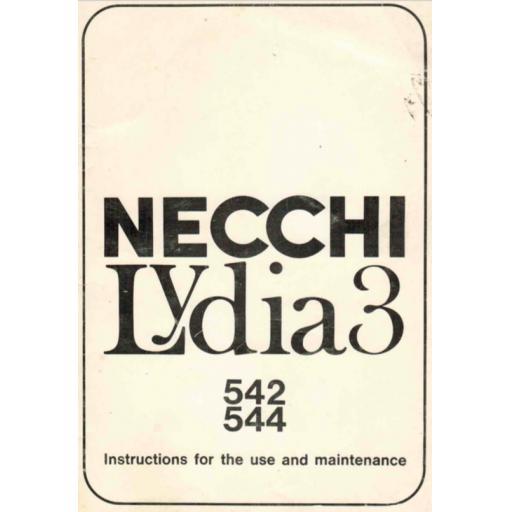 NECCHI Lydia 3 (542, 544) Instruction Manual (Printed)