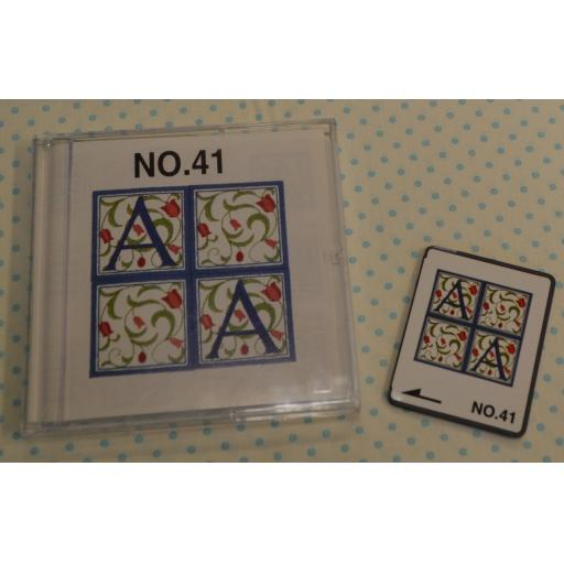 BROTHER Embroidery Design Card - No.41 Renaissance Alphabet (pre-owned)