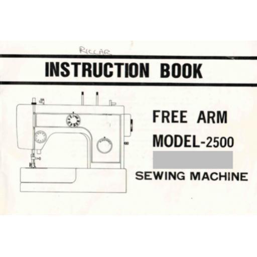 Riccar 2500 Instruction Manual (Printed)