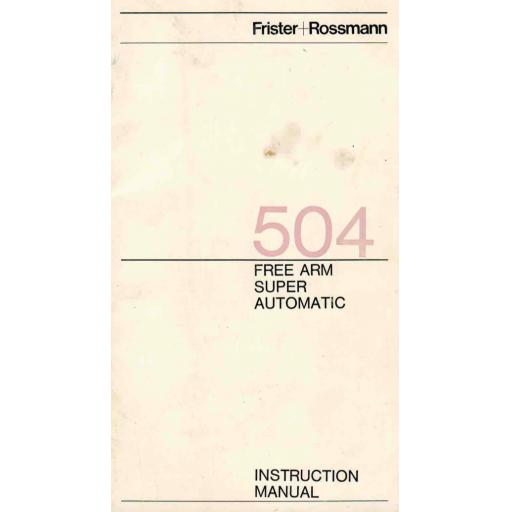 FRISTER + ROSSMANN Model 504 Instruction Manual (Download)