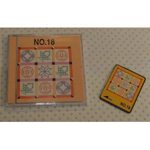 BROTHER Embroidery Design Card - No. 18 Quilting Blocks (pre-owned)