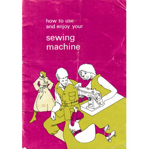 JONES or BROTHER Model VX520 Sewing Machine Instruction Manual (Printed)