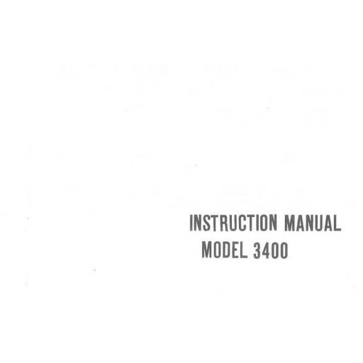 Riccar Model 3400 Instruction Manual (Printed)