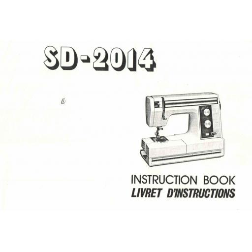 NEW HOME SD-2014  IInstruction Manual (Printed)