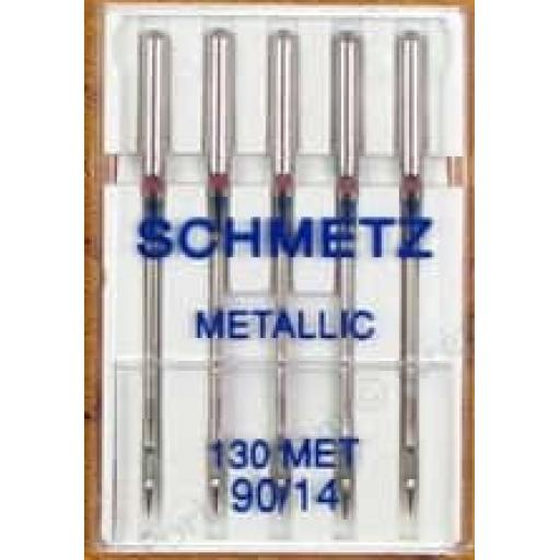 Schmetz Sewing Machine Needles Metallic Size 90(14)