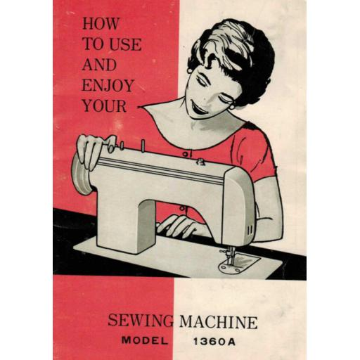 JONES 1369A Straight Stitch Instruction Manual (Printed)
