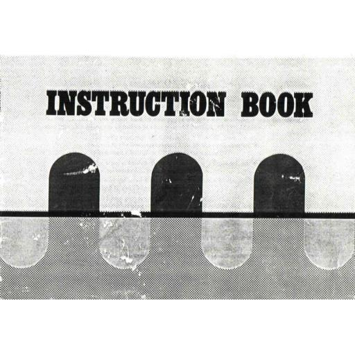 NEW HOME 696 Instruction Manual (Printed)
