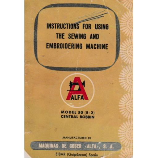 ALFA Model 50 (E-2) Instruction Manual (Download)