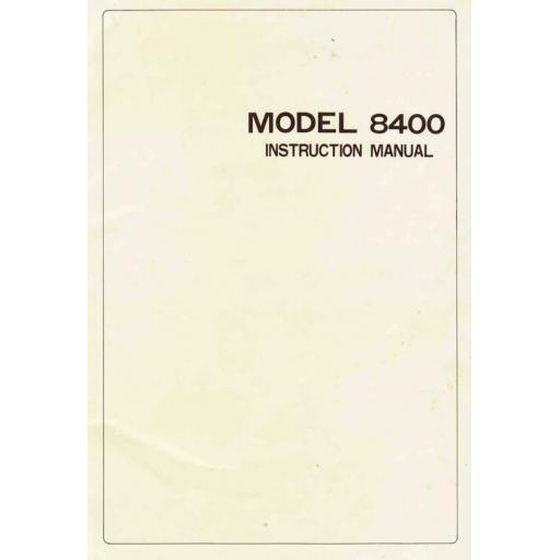 RICCAR 8400 Instruction Manual (Download)