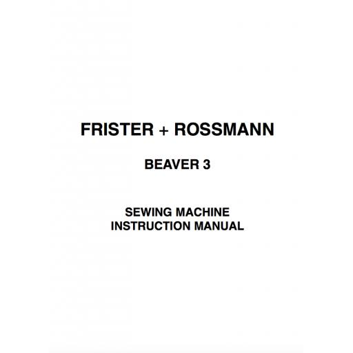 Frister + Rossmann Beaver 3 Instruction Manual (Download)