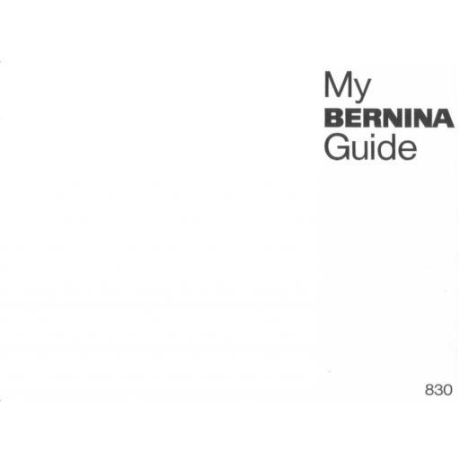 BERNINA 830 Instruction Manual (Download)
